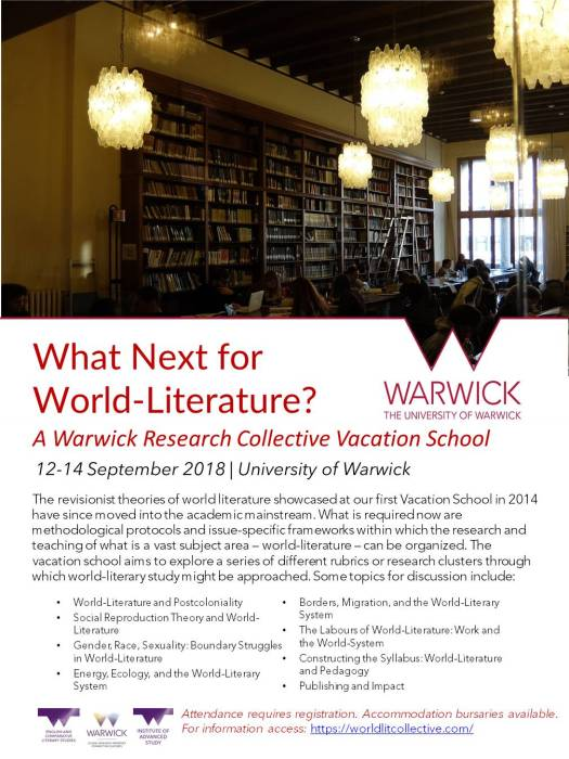 2018 World-Lit Vacation School Poster